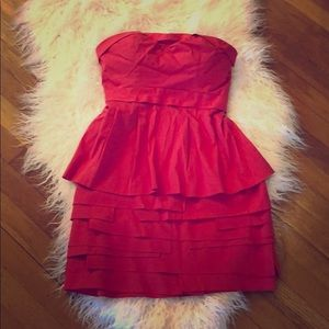 BCBGMaxazria red berry, strapless dress
